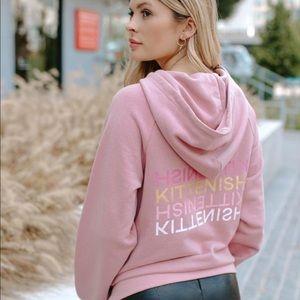 Small Kittenish Jessie James Decker crop hoodie